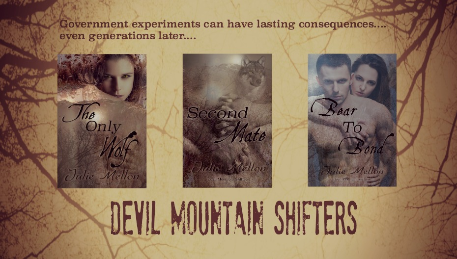 web banner with books from Devil Mountain Shifters | romance | paranormal https://www.amazon.com/Julie-Mellon/e/B00QOW4IT2/ref=ntt_dp_epwbk_0